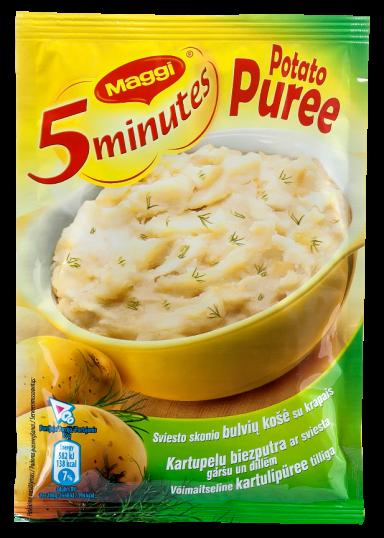 MAGGI 5minutes sviesto skonio bulvių košė su krapais 35g