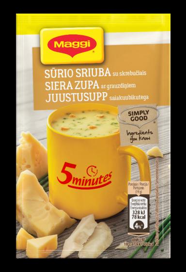 MAGGI 5minutes tirpi sūrio sriuba su skrebučiais 19g