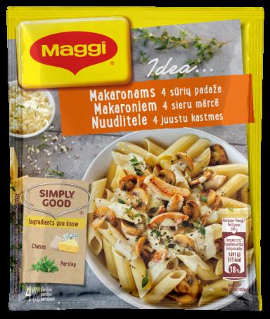 MAGGI® IDEA... Mišinys makaronams su vištiena 4 sūrių padaže 34g