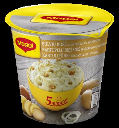 MAGGI 5minutes bulvių košė su svogūnais ir skrebučiais 59g
