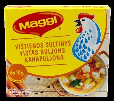 MAGGI® vištienos sultinys kubeliais (6x10g) 60g