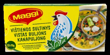 MAGGI vištienos sultinys su krapais ir petražolėmis kubeliais (12x10g) 120g