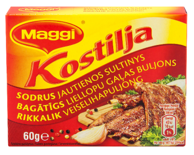 MAGGI® KOSTILJA sodrus jautienos sultinys kubeliais (6x10g) 60g