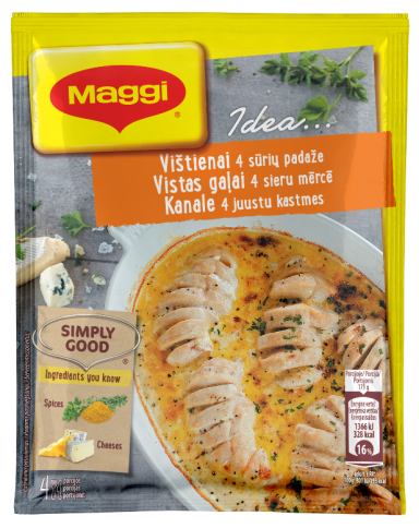 MAGGI®  IDEA... Mišinys vištienai keturių sūrių padaže 32g