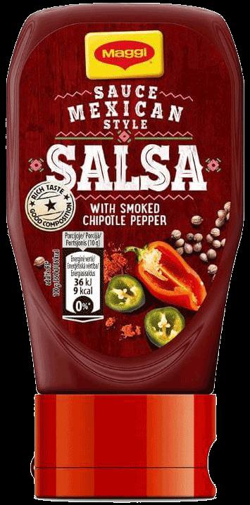 Salsa mērce ar čipotle pipariem meksikāņu gaumē