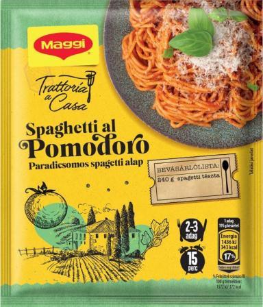 Mērce pastai ar tomātiem, sīpoliem un baziliku.